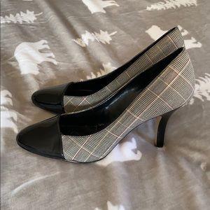 Black and white, grey Anne Klein 3 1/2 inch heels